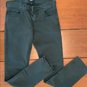 Paige Olive Green Jeans